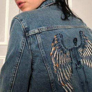 Zadig & Voltaire Jackets & Coats - Zadig & Voltaire embroidered denim jacket